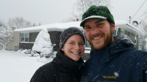 My Wife and I in the snow!