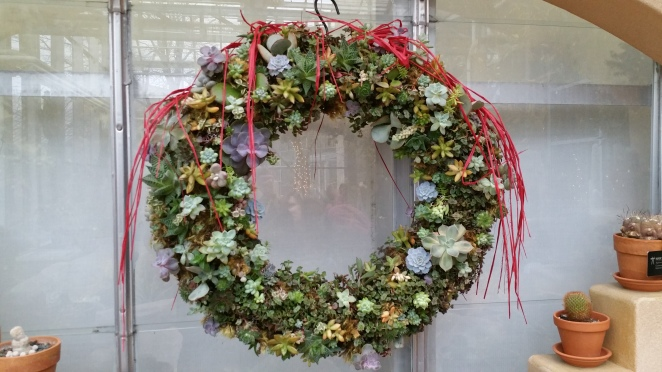 succulent wreath at Meijer Gardens Holiday Traditions