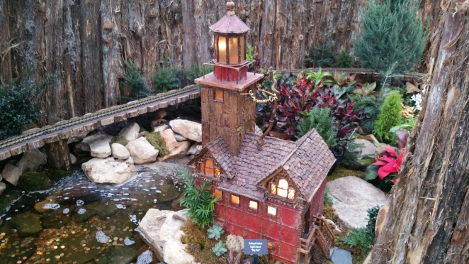 model train at Meijer Gardens Holiday Traditions
